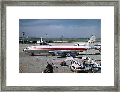 Trans World Airlines Twa Boeing 707 N780tw Framed Print by Wernher Krutein