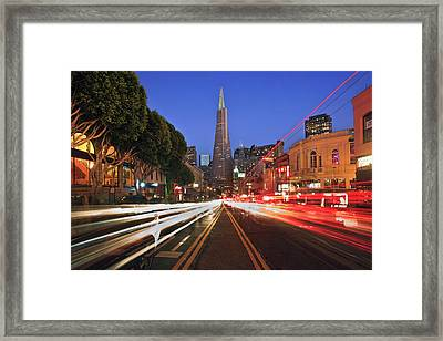 Transamerica Pyramid Framed Print by Sean Duan