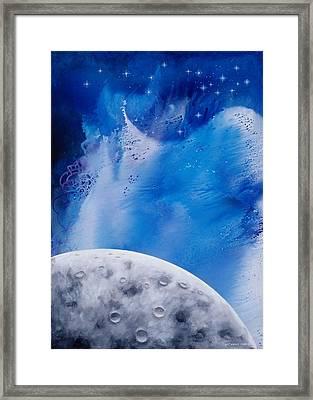 Transcendental Moon Framed Print by Lee Pantas
