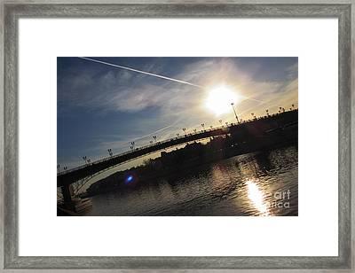 Transfix The Sun Framed Print by Anna Yurasovsky