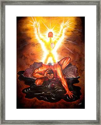 Transformation Of Man Framed Print by Cleautrice Smith