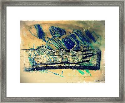 Transforming A Piece Of Wood In Man Framed Print by Paulo Zerbato