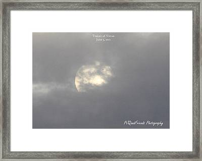 Transit Of Venus Framed Print by PJQandFriends Photography