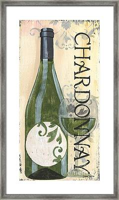 Transitional Wine Chardonnay Framed Print by Debbie DeWitt