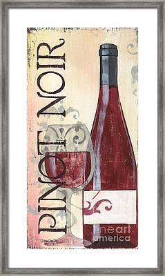 Transitional Wine Pinot Noir Framed Print by Debbie DeWitt