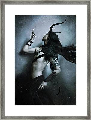 Union Of Opposites Framed Print by Cambion Art