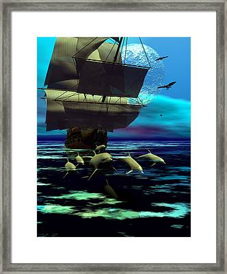 Traveling Companions Framed Print by Claude McCoy