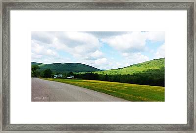 Traveling Maine Framed Print by Cathleen Edick