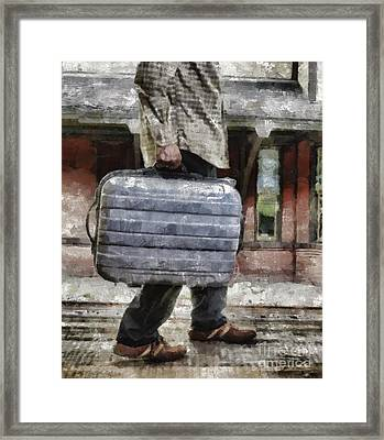 Traveling Man Framed Print by Edward Fielding