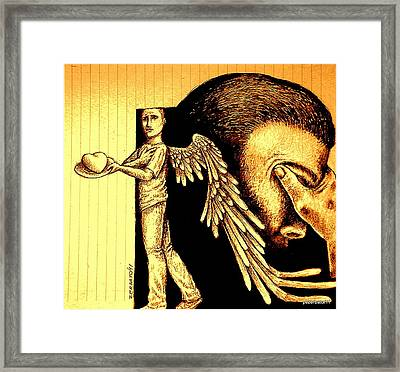 Tray  I Give You My Heart Framed Print by Paulo Zerbato
