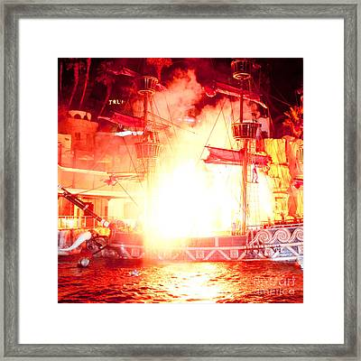Treasure Island Explosion Framed Print by Andy Smy