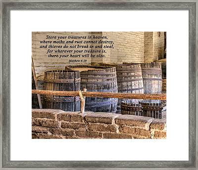 Treasures In Heaven Framed Print by Joan Baker