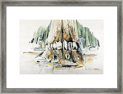 Tree Felling Framed Print by Calum McClure