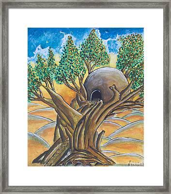 Tree House Framed Print by Ken Nganga