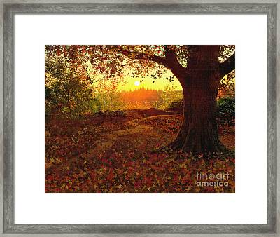Tree Leaves Framed Print by Robert Foster