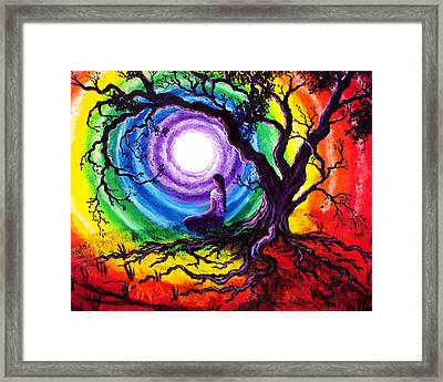 Tree Of Life Meditation Framed Print by Laura Iverson