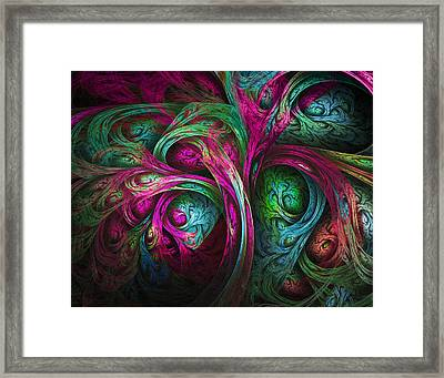 Tree Of Life-pink And Blue Framed Print by Tammy Wetzel