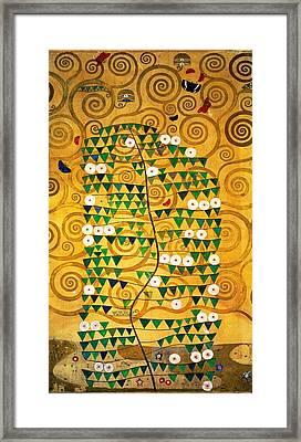 Tree Of Life Stoclet Frieze Framed Print by Gustav Klimt