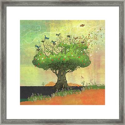 Tree Of Seasons Framed Print by Dennis Wunsch