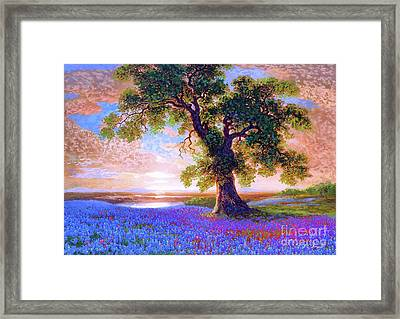 Tree Of Tranquillity Framed Print by Jane Small
