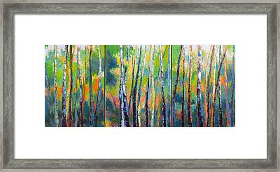Tree Tops Framed Print by Melody Cleary