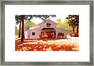 Treece Barn Framed Print by Kevin Lawrence Leveque