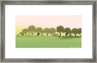 Treeline Framed Print by Gina Lee Manley