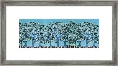 Treescape At Night Framed Print by Sumit Mehndiratta