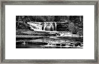 Treman Cascades #3 Framed Print by Stephen Stookey
