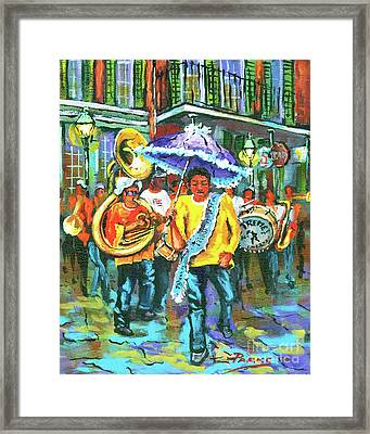 Treme Brass Band Framed Print by Dianne Parks