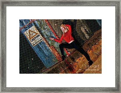 Trespassing Annika Helmer Framed Print by Blake Richards