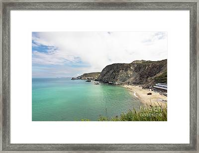Trevaunance Cove St Agnes Framed Print by Terri Waters