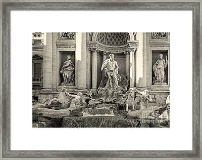 Trevi Fountain Framed Print by Prints of Italy