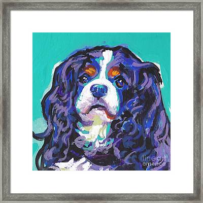 Tri A Little Tenderness Framed Print by Lea S