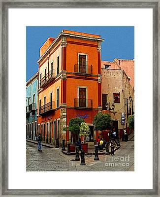 Triangle Corner Framed Print by Mexicolors Art Photography