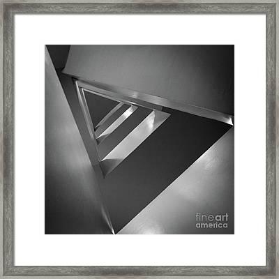 Triangular Framed Print by Inge Johnsson