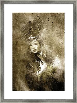 Tribal Girl In A Storm Framed Print by Georgiana Romanovna