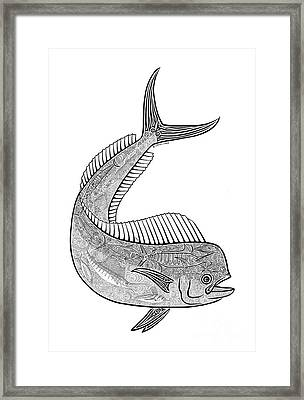 Tribal Mahi  Framed Print by Carol Lynne