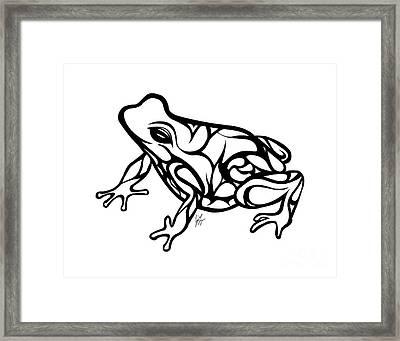 Tribal Ribbet  Framed Print by Jamie Lynn