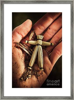 Tribal Voodoo Doll Framed Print by Jorgo Photography - Wall Art Gallery