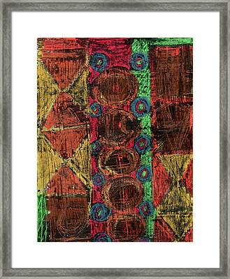 Tribal Wilderness Framed Print by Natalie Bester