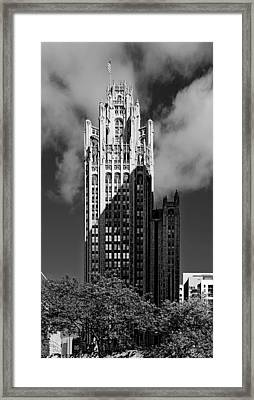Tribune Tower 435 North Michigan Avenue Chicago Framed Print by Christine Till
