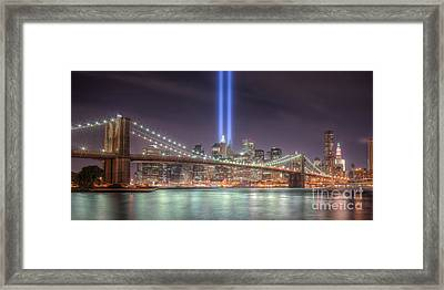 Tribute In Light IIi Framed Print by Clarence Holmes
