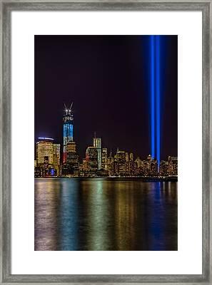 Tribute In Lights Memorial Framed Print by Susan Candelario