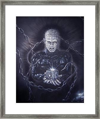 Tribute To Hellraiser Framed Print by Jonathan Anderson