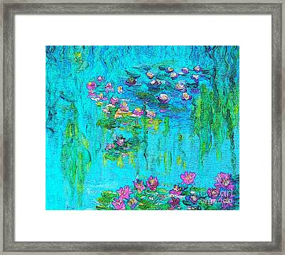 Tribute To Monet Framed Print by Holly Martinson