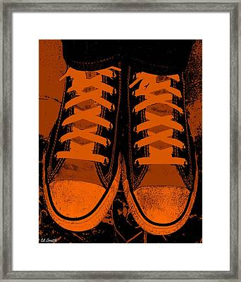 Trick Or Treat Feet Framed Print by Ed Smith