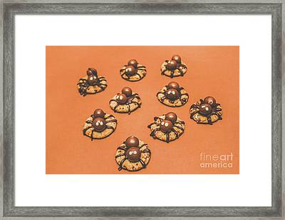 Trick Or Treat Halloween Spider Biscuits Framed Print by Jorgo Photography - Wall Art Gallery