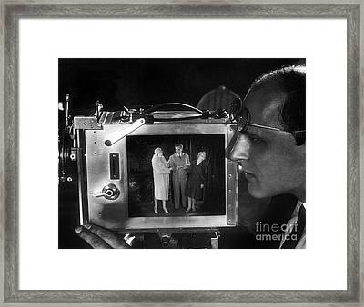 Trick Photography Unknown Silent Film Framed Print by Sad Hill - Bizarre Los Angeles Archive