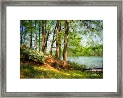 Tridelphia Lake In May Framed Print by Lois Bryan